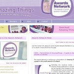 Screenshot of The Awards Network voluntary sector website